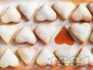 Домашни маслени лимонови сладки с пудра захар и ванилия за Свети Валентин